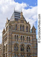 Exterior view of the Natural History Museum in London