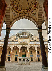 Exterior view Suleymaniye mosque in Istanbul