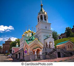 Exterior view to Church of St. John the Baptist, Nizhny Novgorod, Russia