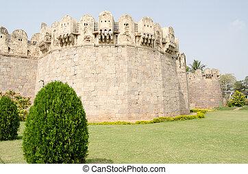 Exterior wall, Golcanda Fort