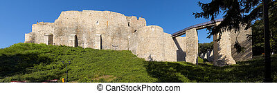 Neamt Fortress - Exterior walls of Neamt Fortress after...