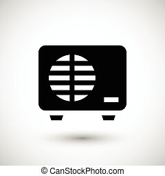 External air conditioning unit icon
