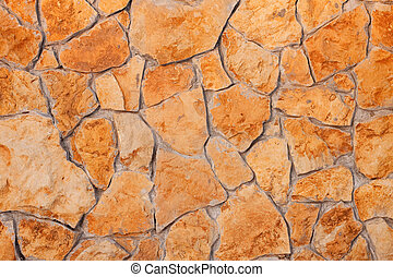 External brown stone wall background