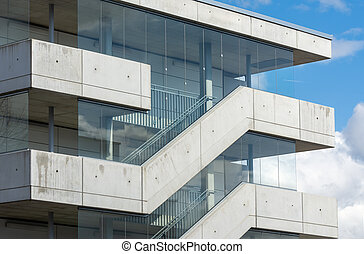 External stairs of a modern building