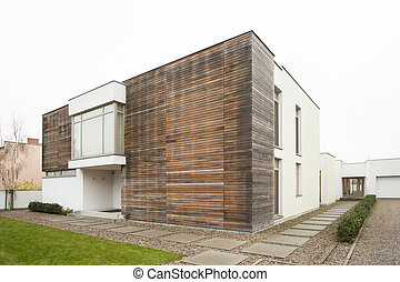 External view of spacious designed detached house