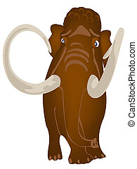 Extinct prehistorical animal mammoth - Big prehistorical...