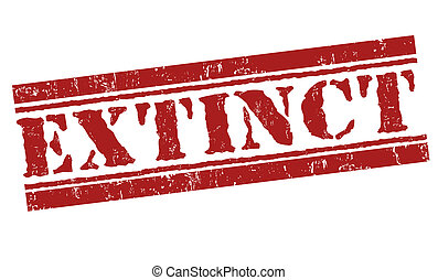 Extinct grunge rubber stamp on white, vector illustration