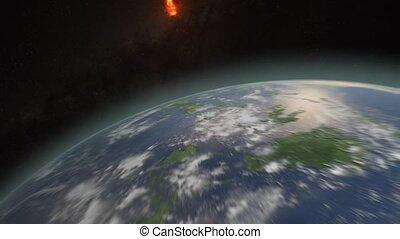 extinction, la terre, astéroïde, succès