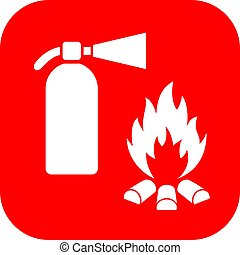 Extinguisher and fire safety sign