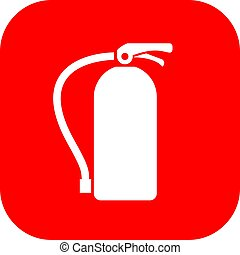 Extinguisher fire sign - Extinguisher fire vector sign