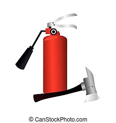 extinguisher fire sign icon