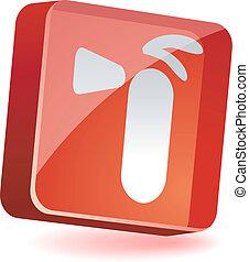 Extinguisher Icon. - Extinguisher 3d icon. Vector...