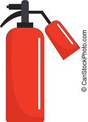 Extinguisher icon, flat style