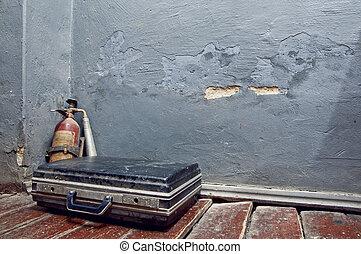 extintor, antigas, mala