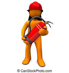 extintor, bombeiro