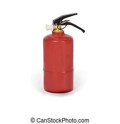 extintor, branca, isolado, fundo
