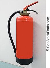 extintor, close-up