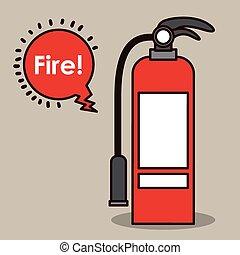 extintor, desenho