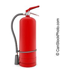 extintor, rojo