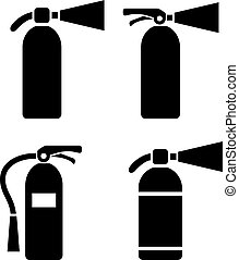 extintor, vetorial, pictograma