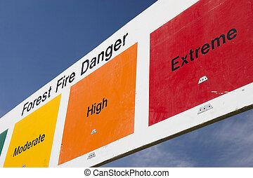 extrême, brûler, danger