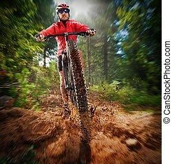 extrême, cycliste