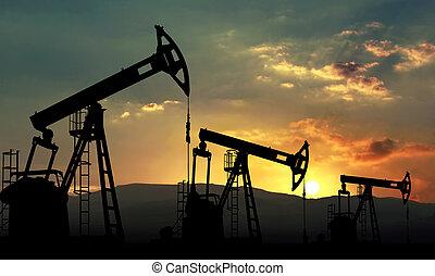 extração, óleo