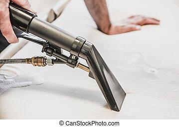 extração, limpador spray