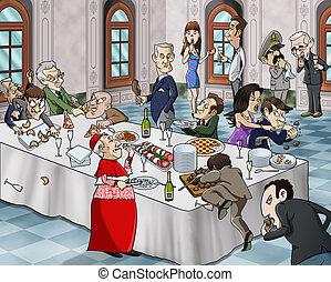 extraño, banquete