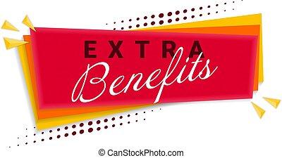 Extra Benefits Banner Template Design. Vector Illustration.