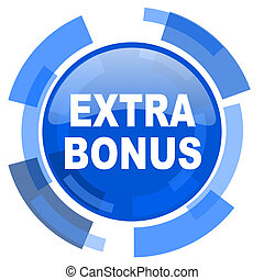 extra bonus blue glossy circle modern web icon