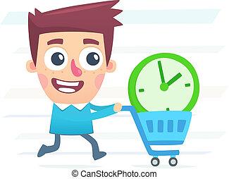 extra, comprare, tempo