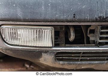 Extra headlight on the car