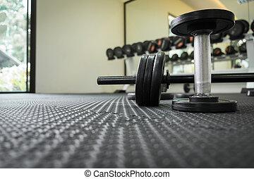 extra, -, pesas, hierro, placas, dumbbell, ejercicio