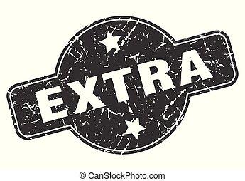 extra round grunge isolated stamp