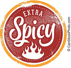 Extra Spicy Food Menu Stamp
