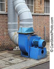 extracteur, industriel, ventilateur