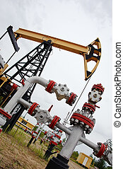 pumpjack and oilwell.