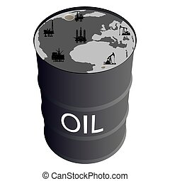 Extraction of petroleum products - Barrel of oil products,...