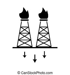 extraction tower oil flat style icon