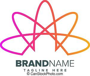 Extracto, creativo, forma,  vector, diseño, logotipo