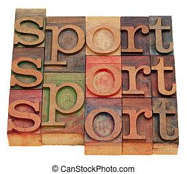 Extracto, deporte, palabra
