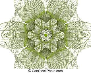 Extracto, flor, verde