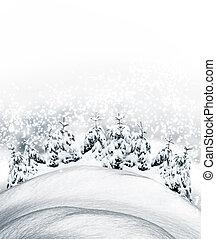 Extracto, invierno, Plano de fondo