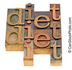 Extracto, palabra, dieta