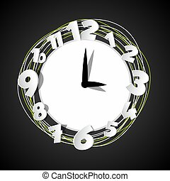 Extracto,  vector, creativo, Ilustración, reloj