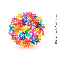 Extracto,  vector, flores, colorido