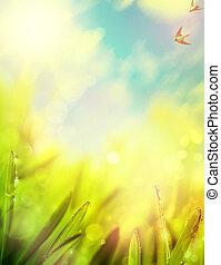 extractos, de, natural, primavera, plano de fondo