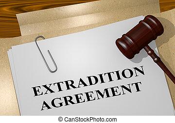 extradition, abkommen, begriff