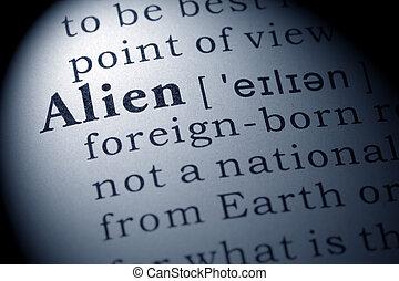 extranjero, definición